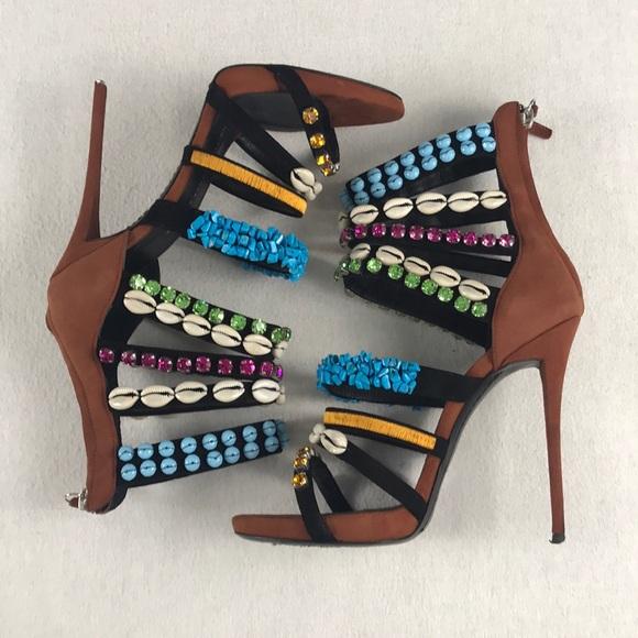 Giuseppe Zanotti Strappy Embellished Sandal Pump